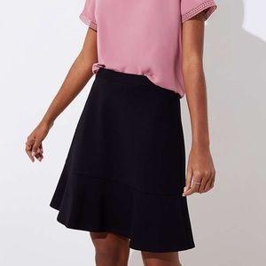 Ann Taylor/Loft Tweed Flounce Skirt /Black
